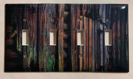 Color Barn Wood Light Switch Outlet Toggle Rocker Wall Cover Plate Home Decor image 5