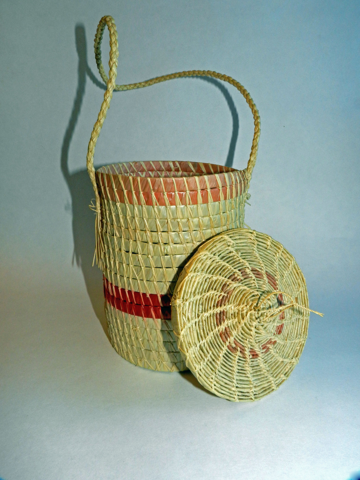 Handmade Cylindrical Palm Fronds Basket and 50 similar items