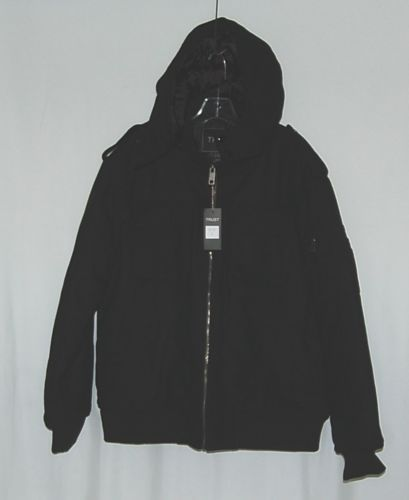 Trust Brand WB170J Wool Nylon L Black Coat Zippered Hooded