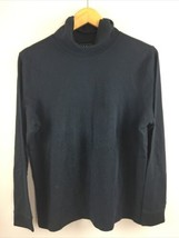 LL Bean Turtleneck Womens L Large Black 100% Cotton Top - $22.77