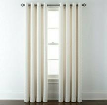 (1) JCPenney JCP Liz Claiborne Quinn Lattice IVORY Grommet Curtain Panel 50 x 84 - $65.44