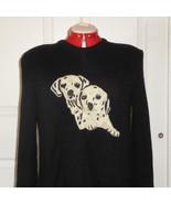 Dalmatian Vera Da Pozzo Black Vintage Knit Sweater Size L (42 EU) Made in Italy - $34.62