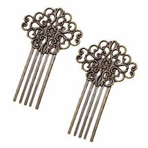3 Pcs Retro Bronze Metal Side Comb Traditional Han Chinese Dress Hairpin Decorat