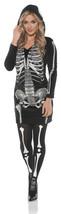 Underwraps Skeletal Hoodie Dress Skull Adult Womens Halloween Costume 28194 - $32.26