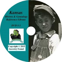 KANSAS - History & Genealogy - 230 old Books on DVD - Ancestors, County,... - $7.66