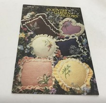 Country Garden Pillows 6 Ruffled Floral Styles Annie's Attic crochet patterns - $7.91