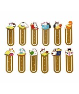 Starte 12Pcs Funny Cute Cat Theme Metal Bookmark for Cat Lovers Book Mar... - $19.03