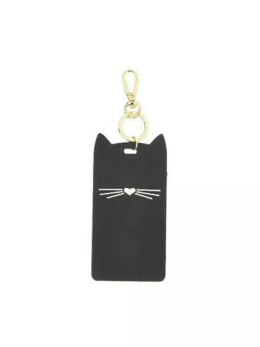 Primary image for Kate Spade New York Black Cat ID Clip NWT