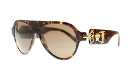 Versace Sunglasses VE4323 10873 Dark Havana Brown 58mm Authentic - $173.63