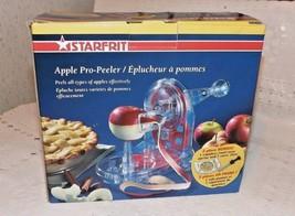 New Starfrit Apple PEELER/EPLUCHEUR A' POMMES~2 Pc.Bonus Ss Corer & Slicer & Dir - $24.70