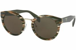 Prada Women PR05TS VAO4J1 53MM Dark Green Round Ladies Sunglasses - $137.61