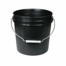 5 Gal Black Bucket w/ Handle Camping Storage Heavy Duty Plastic Container - $53.01