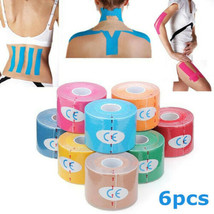 [NEW] 6pcs Pink Kinesiology Tape Sports Muscles Care Therapeutic Bandage - $22.78