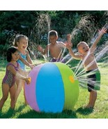 Inflatable Water Ball Sprayer Sprinkler Toy Game Garden Kids Play Summer Pool - $18.79