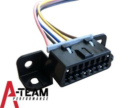 A-Team Performance OBD II OBD2 Dash Port Wire Pigtail Wiring Harness Plug In Cab image 3
