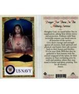 4 Lot of U.S. Navy Military Prayer Cards Laminated - $3.99