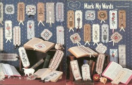 MARK MY WORDS  -   CROSS STITCH   BOOKMARK LEAFLET - $6.88