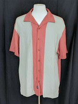 Nat Nast Men's Charlie Sheen 100% Silk Bowling Shirt Jalapeno Button Siz... - $31.95