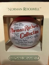 Hallmark Keepsake Satin Ball Ornament 1982 Norman Rockwell - #QX2023-NEW IN BOX - $6.99