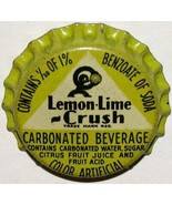 Vintage soda pop bottle cap LEMON LIME CRUSH with Crushy cork new old stock - $8.99