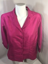 Kithie Lee Collection Women Pink Blazer Jacket Only 4 Buttons Thin Size ... - $16.36