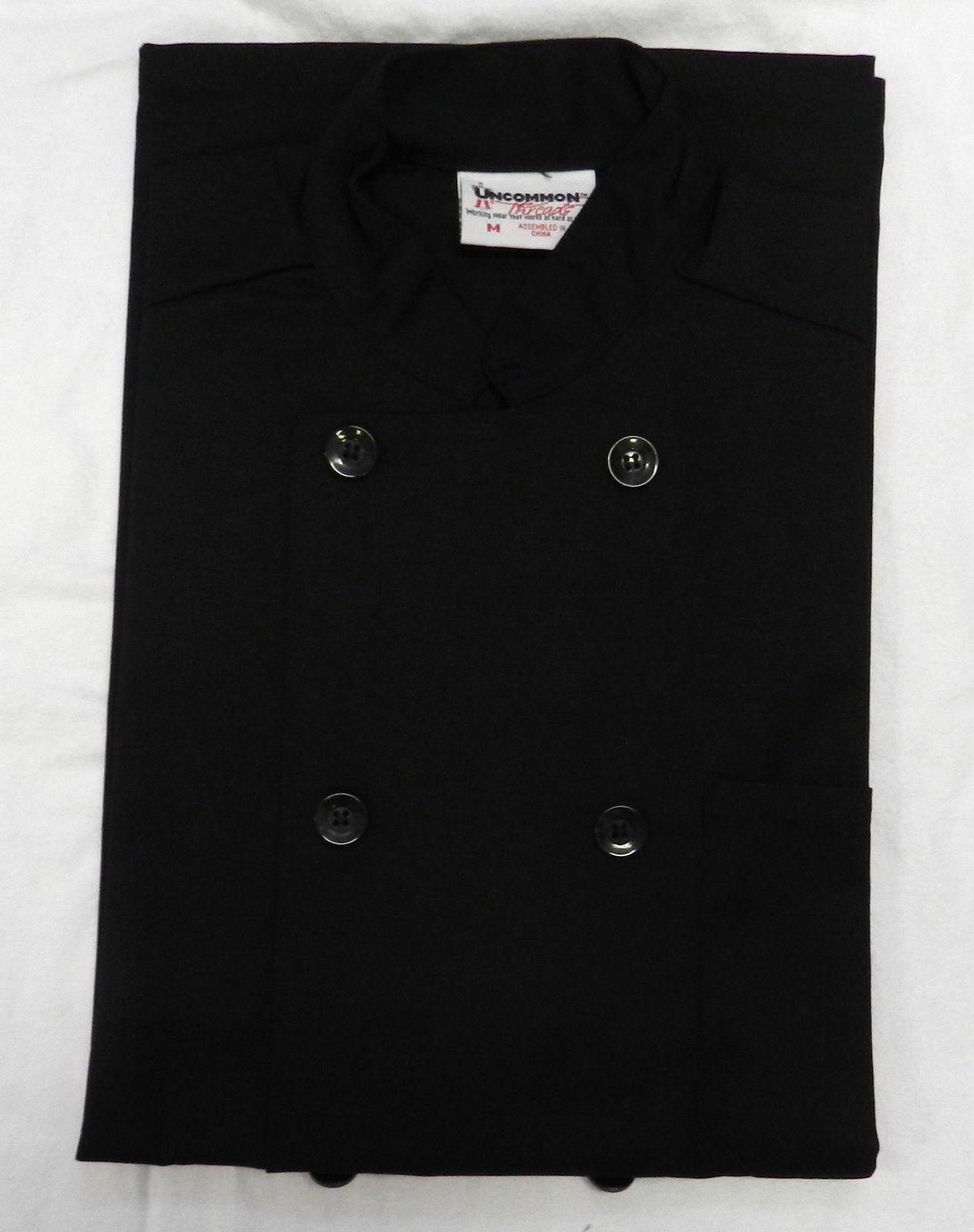 Chef Coat Jacket Uncommon Threads 415 Restaurant Uniform S/S Black M New