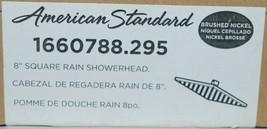 American Standard 1660788 295 8 inch Square Rain Showerhead Brushed Nickel image 2