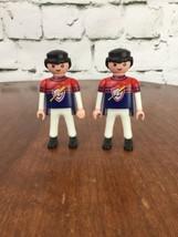 Playmobil Lot Of 2 Ball Players In Jerseys 1992 Geobra #6 - $9.89
