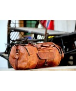 Men's Leather Weekender Duffel Overnight Bag New Genuine Rustic Messenge... - $102.85