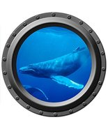 Humpback Whale - Porthole Wall Decal - $14.00