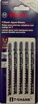 """Bosch T144D 4"""" x 6 TPI HCS T-Shank Jigsaw Blades 5 Pack Swiss - $3.47"""
