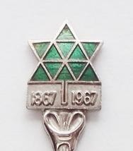 Collector Souvenir Spoon Canada Centennial 1867 1967 Stylized Maple Leaf Green - $9.99