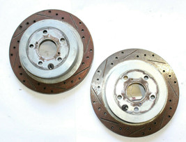 2006-2013 Lexus IS350 Rwd Rear Rotor Drilled Slotted Set Left & Right Side J6179 - $111.71