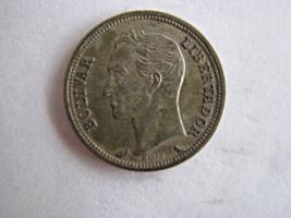 1960 Venezuela 1 Bolivar Silver Coin Y#37 - $8.50
