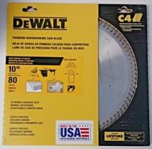 """Dewalt DW71080MT 10"""" x 80 Teeth Solid Surface & Plastics Thin Kerf Saw Blade USA - $47.52"""