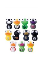Duck Eye Popper Squishes Set Of 11 Toy Figures Eight Ball, Shamrock, & M... - $14.95