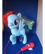 My Little Pony Singing Rainbow Dash 3 Ways To Play & Sing Along W/Mic  - $10.00