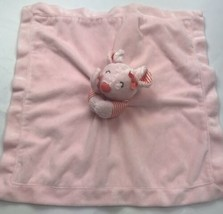 Carters Mouse Satin Pink Peach Orange Lovey Striped Plush Rattle Toy - $43.45
