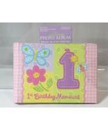 Amscan Babys 1st First Birthday Memories 4x6 Mini Photo Album Holds 36 P... - $9.89