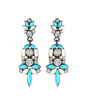 AMRITA SINGH Austrian Crystal & Teal Drop Earrings - $23.75