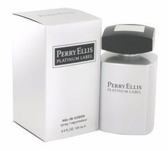 Perry Ellis Platinum Label for men 3.4 fl.oz / 100 ml eau de toilette spray - $29.98
