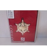 "GORHAM ORNAMENT OUR FIRST CHRISTMAS SILVERPLATE BOX 3.25"" HEART STAR HAN... - $2.92"