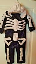 Halloween Kids Plush Skeleton Costume Size 4T - $34.99