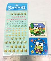 Vintage Sanrio Keroppi Frog 2 Mini Sticker Book Sticker Sheet Lot New 1990s - $21.95