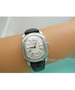 Tiffany & Co Atlas Mark Coupe Resonator Swiss Date Watch SS Guilloche - $678.99