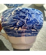 6 Vintage Staffordshire Liberty Blue Tea Cup Paul Revere Made In England... - $19.00