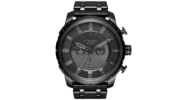 Diesel DZ4349 Stronghold All Black Chronograph Mens Watch - $138.66 CAD