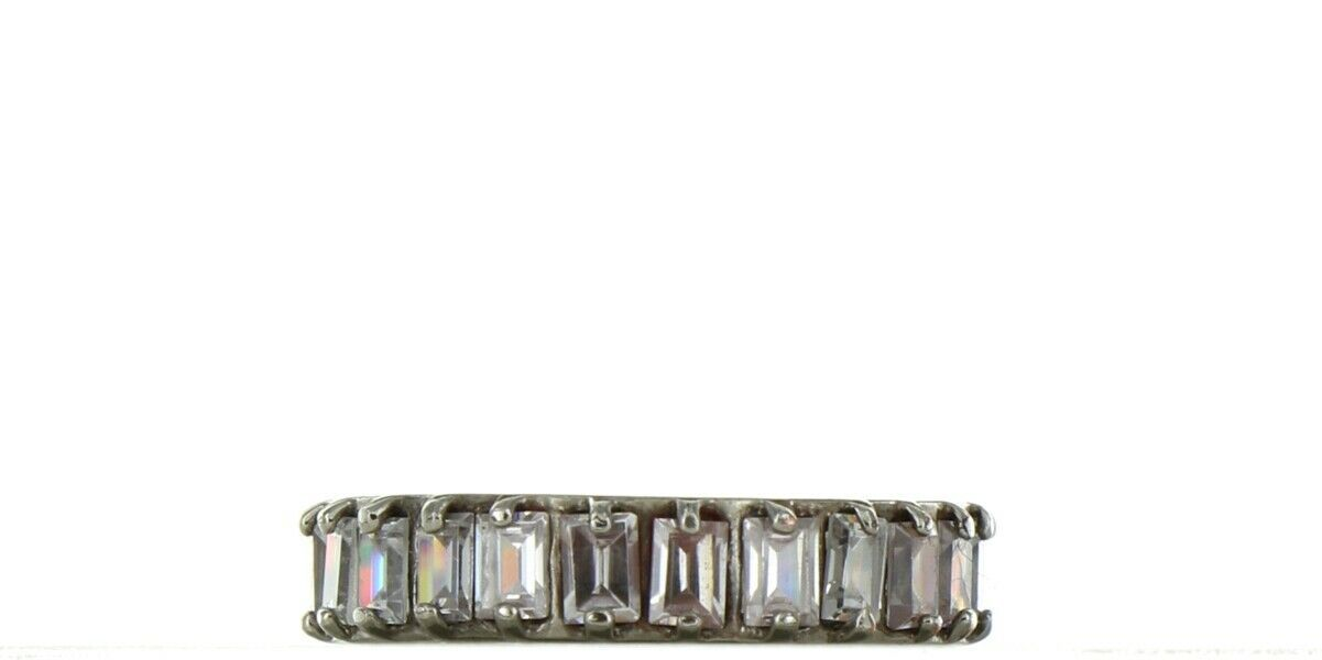Ladies Size 7 Silver Plated CZ Eternity Fashion Ring No. 2121
