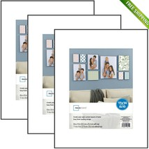 Mainstays 11x14 matted to 8x10 Format Picture Frame | Black Set of 3 - $37.00