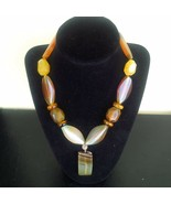 Multi color Agate and Tiger Eye Necklace - New - $55.00